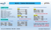 Timing Open indoor Avignon 2019 1-3 Février